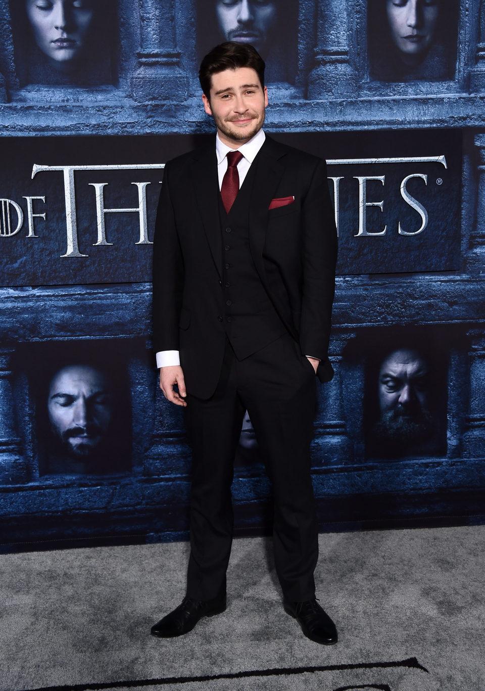 Daniel Portman en la premiere de la sexta temporada de 'Juego de Tronos'