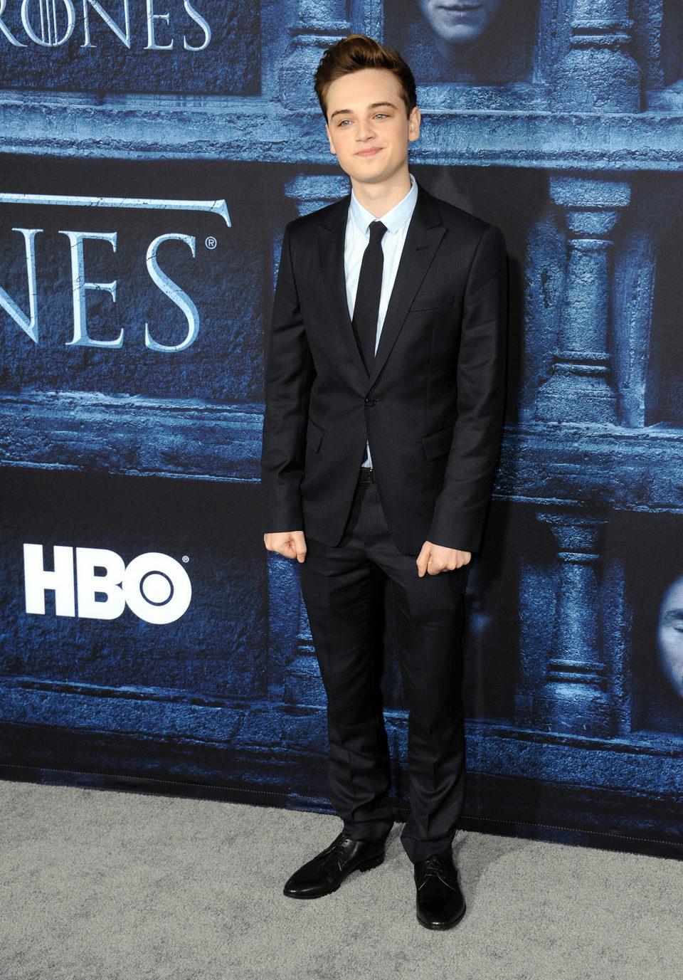 Dean-Charles Chapman en la premiere de la sexta temporada de 'Juego de Tronos'