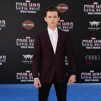 Tom Holland en la premiere mundial de 'Capitán América: Civil War'