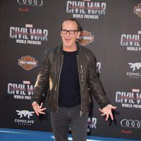 Clark Gregg en la premiere mundial de 'Capitán América: Civil War'