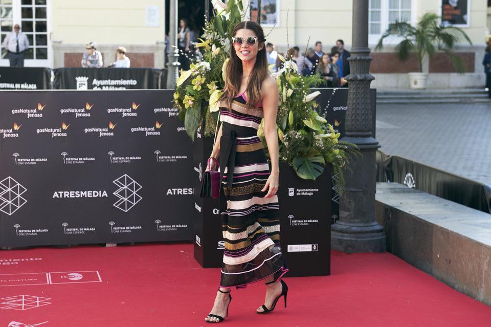 Juana Acosta en la premiere de 'Acantilado' del Festival de Málaga 2016
