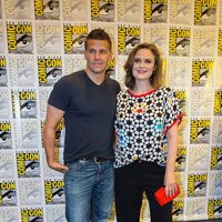 Emily Deschanel and David Boreanaz attend the Comic-Con International 2016