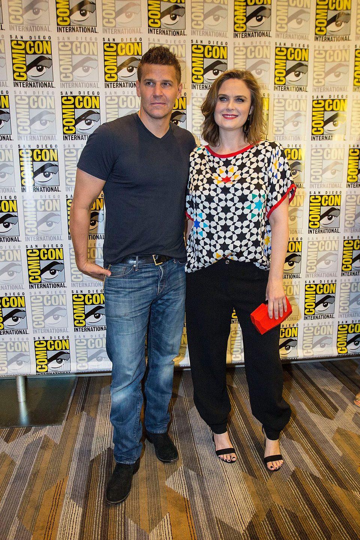Emily Deschanel y David Boreanaz en la Comic-Con de San Diego 2016