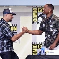 Will Smith saludando a David Ayer