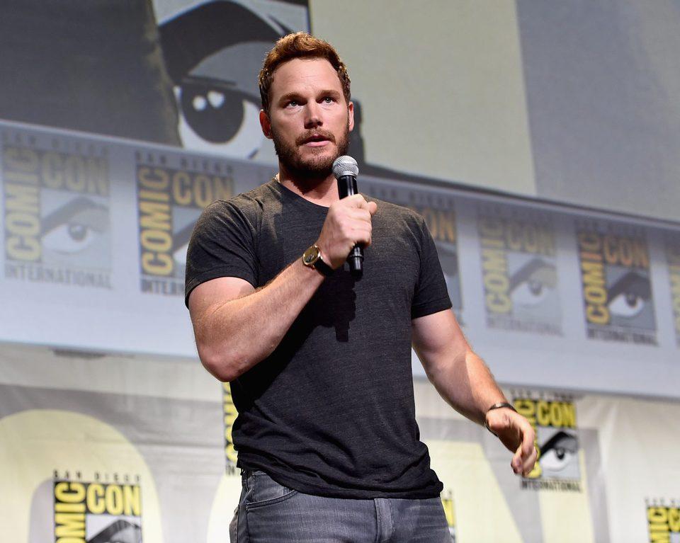 Chris Pratt hablando en el panel de Marvel
