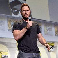 Chris Pratt hablando en el panel de Marvel
