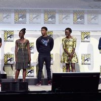 El reparto de 'Black Panther' en el panel de Marvel