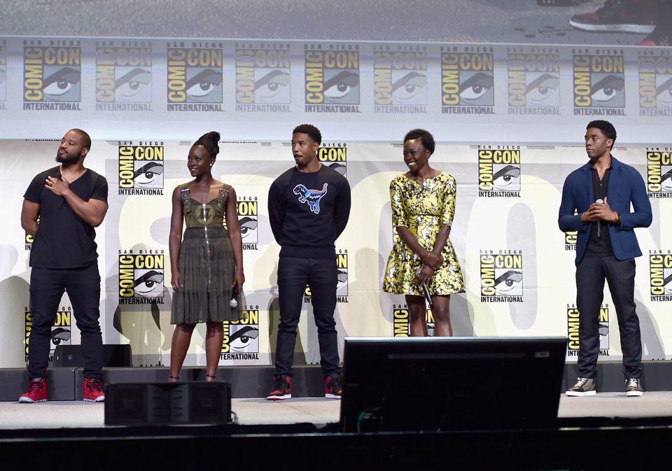 El reparto de 'Black Panther' en el panel de Marvel