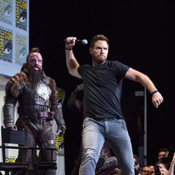 Chris Pratt efusivo en la Comic-Con