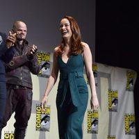 Brie Larson en el panel de Marvel