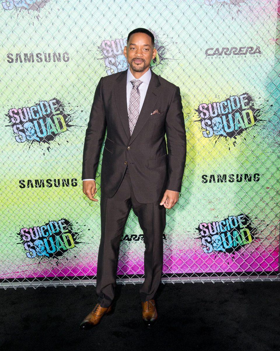 Will Smith en la premiere mundial de 'Escuadrón Suicida'