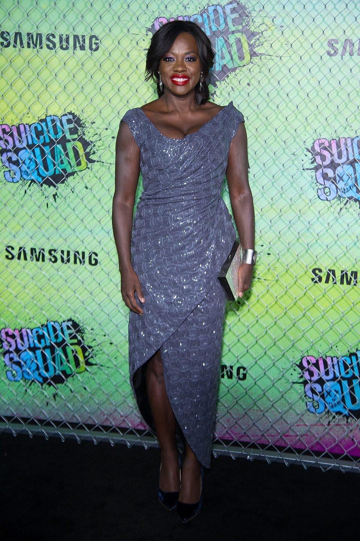 Viola Davis en la premiere mundial de 'Escuadrón Suicida'