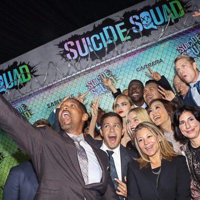 Los actores de 'Escuadrón Suicida' se hacen un selfie en la premiere mundial