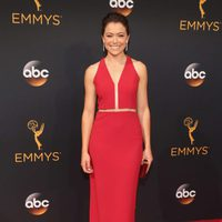 Tatiana Maslany at the Emmys 2016 red carpet