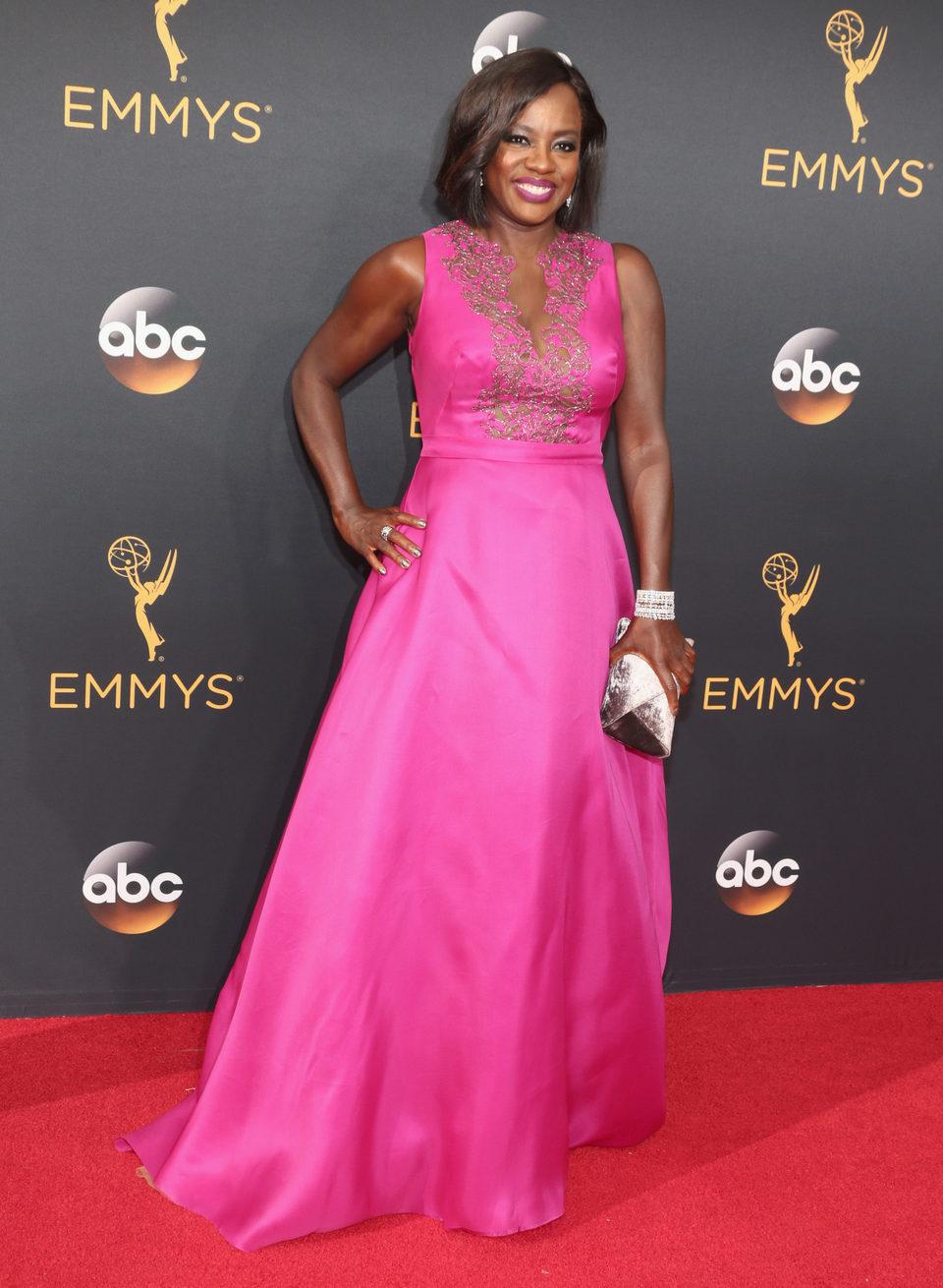Viola Davis en la alfombra roja de los Emmy 2016