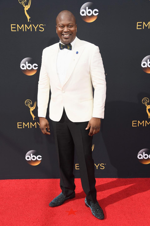 Tituss Burgess en la alfombra roja de los Emmy 2016