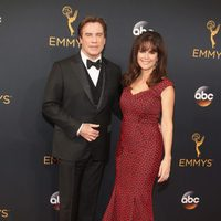 John Travolta and Kelly Preston at Emmys 2016 red carpet