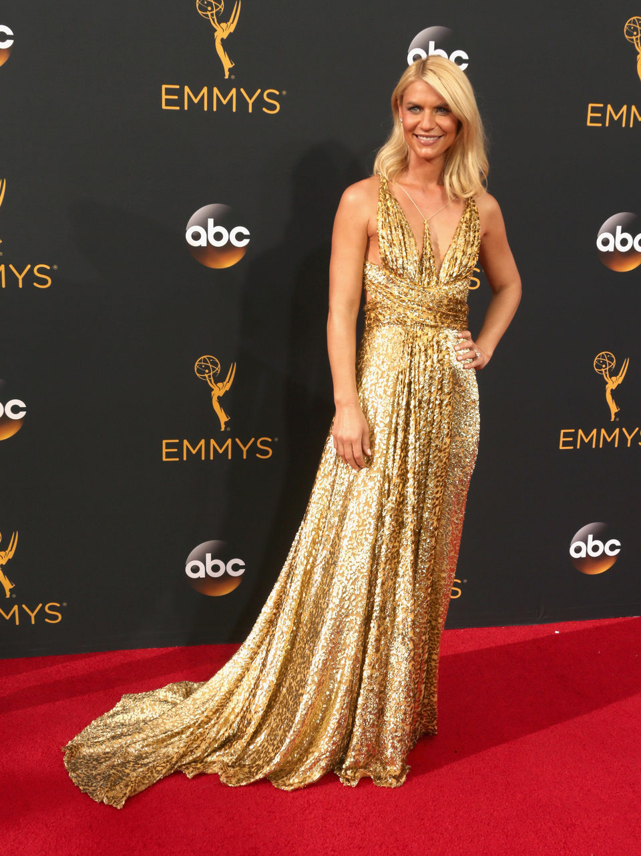 Claire Danes en la alfombra roja de los Emmy 2016