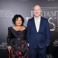 David Yates and his wife at the world premiere of 'Fantastic Beasts and Where to Find Them'.