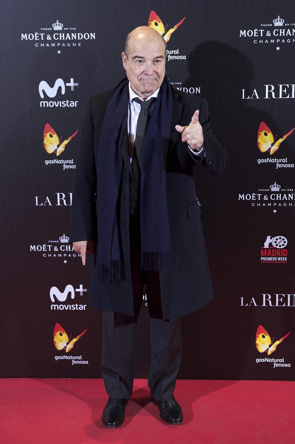 Antonio Resines, uno de los protagonistas de 'La reina de España', en la premiere de la película