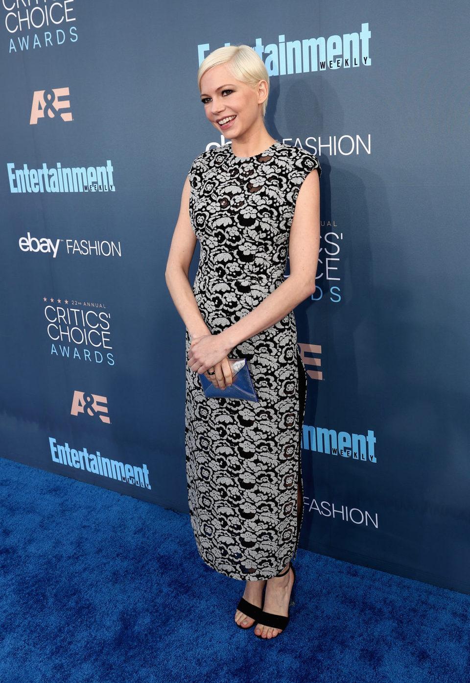 La actriz Michelle Williams en los Critics Choice Awards
