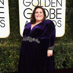 Chrissy Metz en la alfombra roja de los Globos de Oro 2017