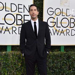 David Schwimmer posa en la alfombra roja de los Globos de Oro 2017