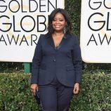 Octavia Spencer en la alfombra roja de los Globos de Oro 2017