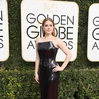 Amy Adams at Golden Globes 2017 red carpet