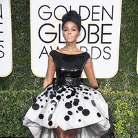 Janelle Monae at Golden Globes 2017 red carpet