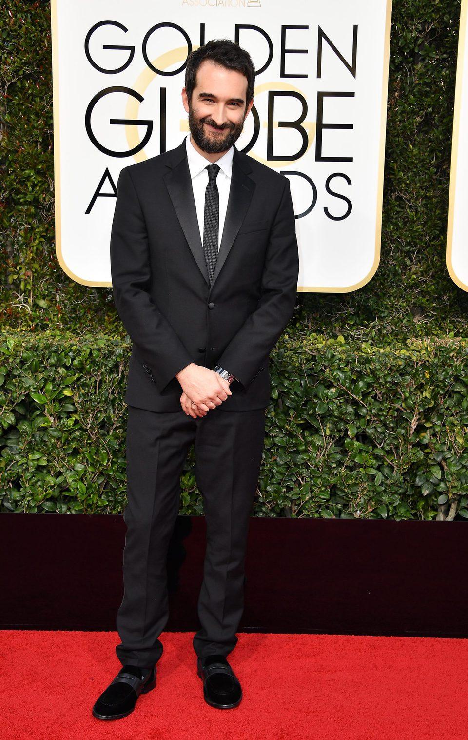 Jay Duplass en la alfombra roja de los Globos de Oro 2017