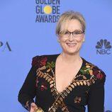 Meryl Streep tras la ceremonia de los Globos de Oro 2017