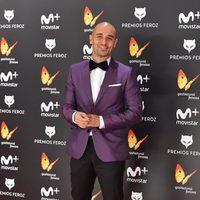 Alain Hernández en la alfombra roja de los Premios Feroz 2017
