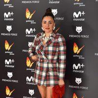 Candela Peña en la alfombra roja de los Premios Feroz 2017