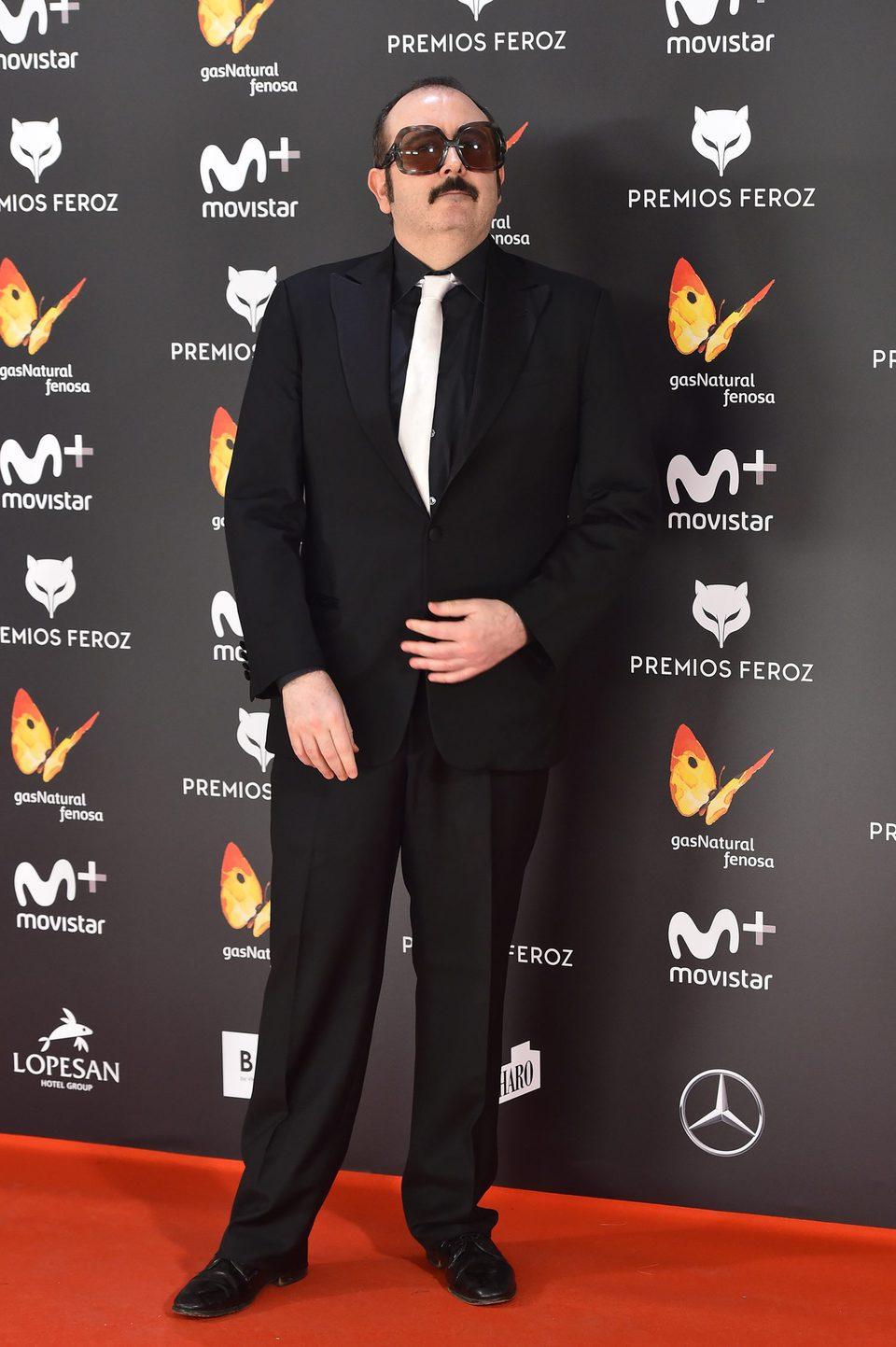 Carlos Areces en la alfombra roja de los Premios Feroz 2017