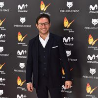 Carlos Santos en la alfombra roja de los Premios Feroz 2017