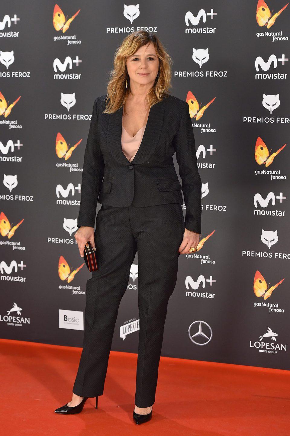 Emma Suarez en la alfombra roja de los Premios Feroz 2017