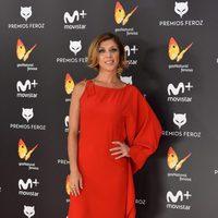 Eva Isanta en la alfombra roja de los Premios Feroz 2017