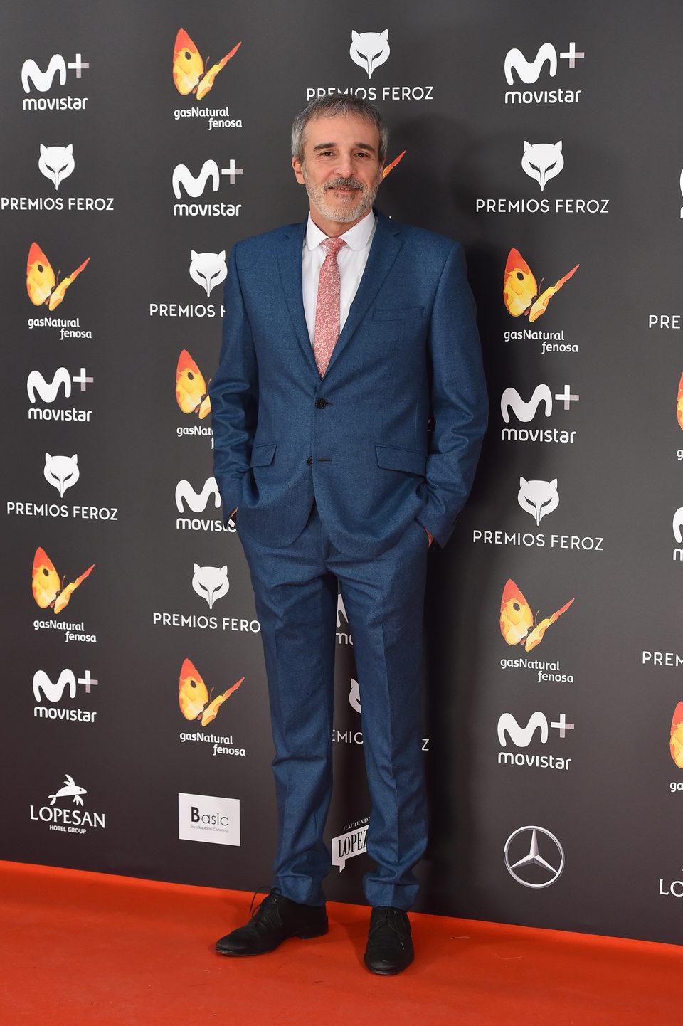 Fernando Guillén Cuervo en la alfombra roja de los Premios Feroz 2017