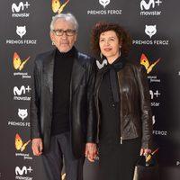 José Sacristán y Amparo Pascual en la alfombra roja de los Premios Feroz 2017