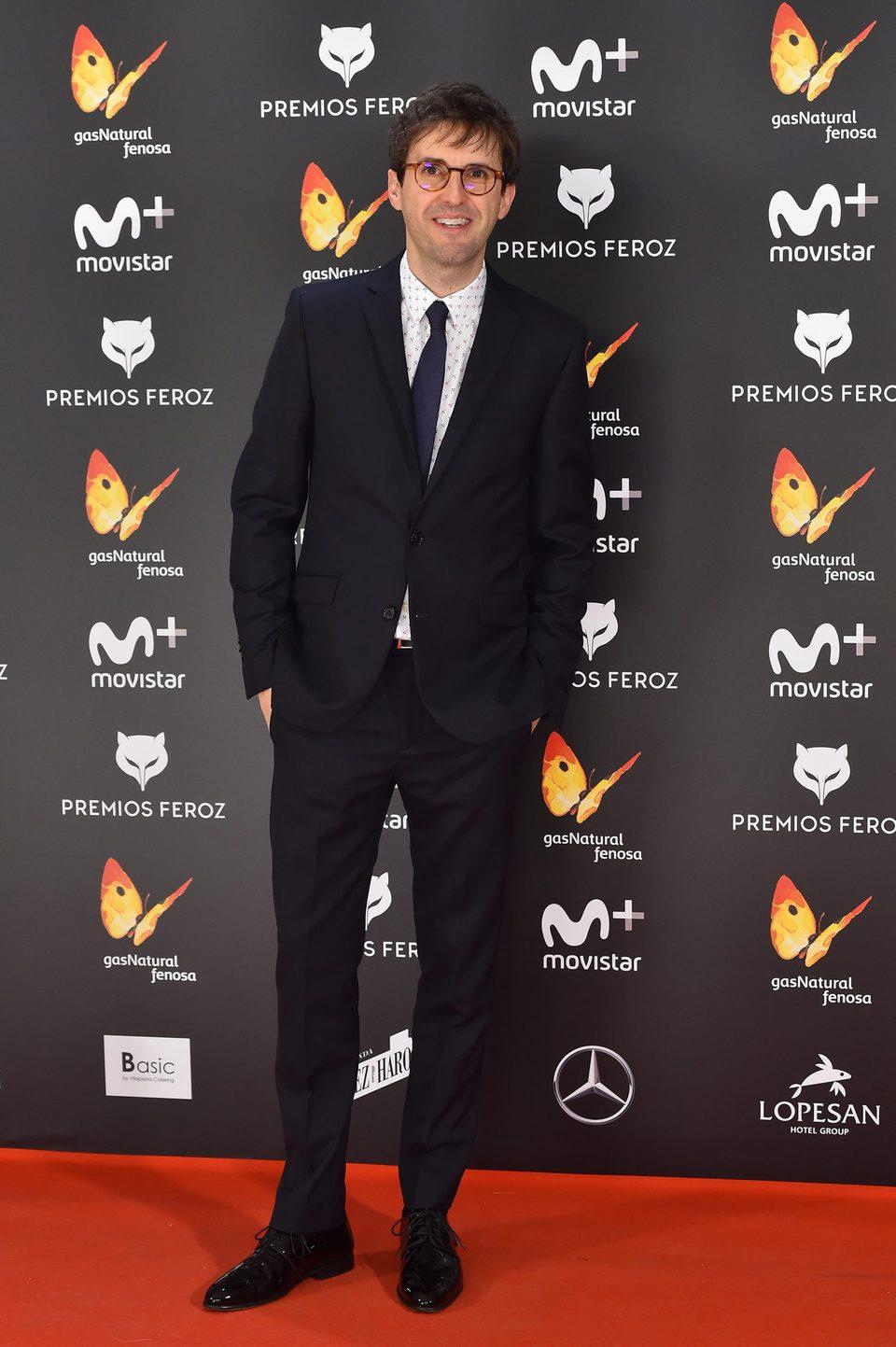 Julián López en la alfombra roja de los Premios Feroz 2017