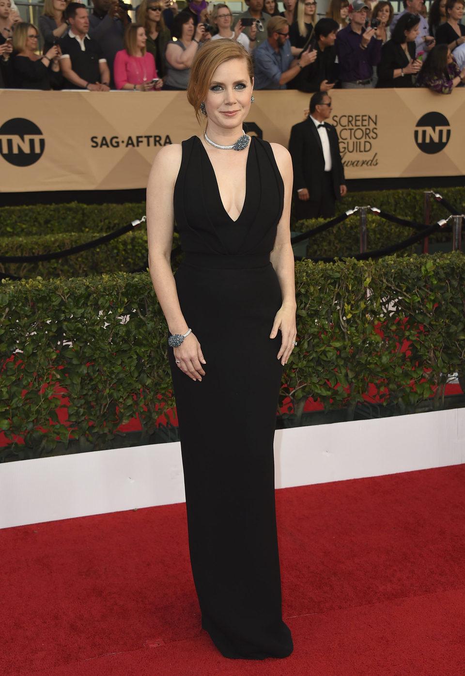 Amy Adams en la alfombra roja de los SAG Awards 2017