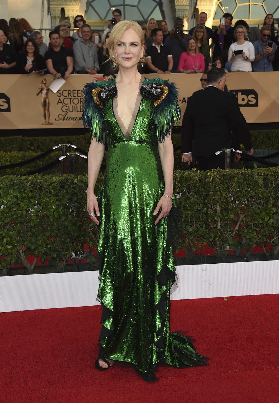 Nicole Kidman en la alfombra roja de los SAG Awards 2017
