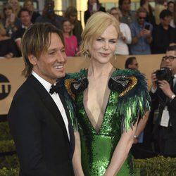 Nicole Kidman y Keith Urban en la alfombra roja de los SAG Awards 2017