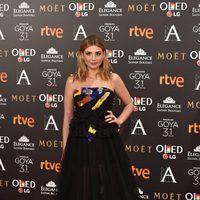 Miriam Giovanelli en la alfombra roja de los Premios Goya 2017
