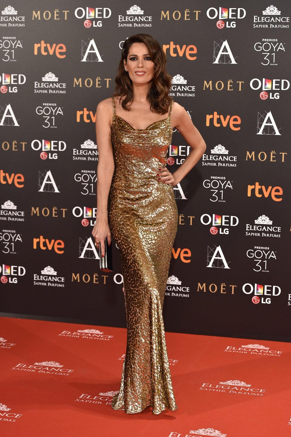 Mar Saura en la alfombra roja de los Premios Goya 2017
