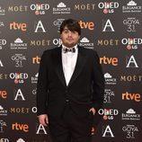 El actor Brays Efe en la alfombra roja de los Goya 2017