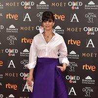 Ana Álvarez en la alfombra roja de los Premios Goya 2017