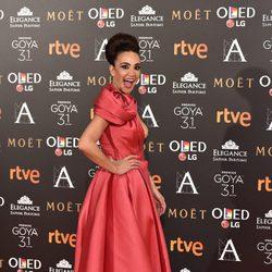 Cristina Rodriguez en la alfombra roja de los Premios Goya 2017