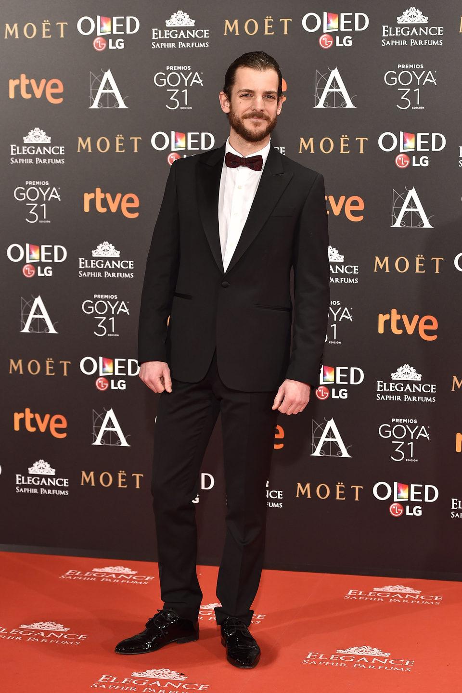 Guillermo Barrientos en la alfombra roja de los Goya 2017